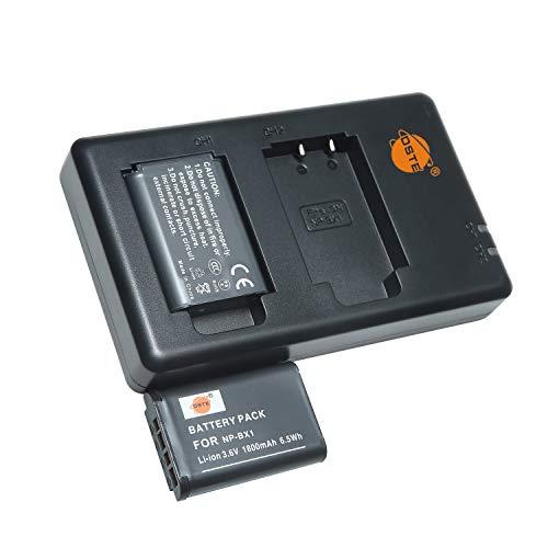 NP-BX1 - Batería recargable y cargador dual compatible con Sony NP-BX1/M8,ZV1,ZV-1,DSC-RX100,RX100 VII,RX100 II,RX100 III,RX100 V,RX100 IV,HDR-CX, etc.