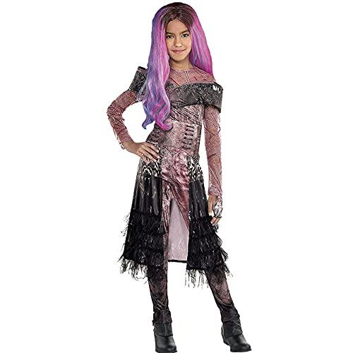 Girls Superhero Halloween Costumes Descendants 3 Deluxe Audrey Costume Children Long Sleeve Jumpsuit Cosplay Outfit