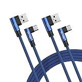 SIXTHGU Cable USB Tipo C, 2Pack [1.2M+1.2M] 3A Cargador Tipo C Nylon Carga...