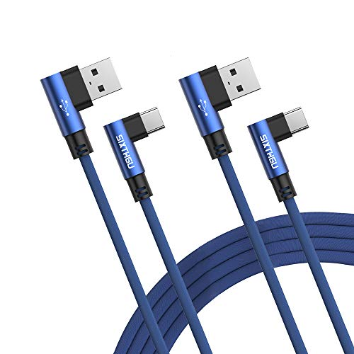 SIXTHGU Cable USB Tipo C, 2Pack [1.2M+1.2M] 3A Cargador Tipo C Nylon Carga Rápida y Sincronización Cable USB C para Galaxy S10/S9/S8 Note9, Xiaomi Mi A2/A1, Huawei P30/P20/Mate20, Xperia XZ