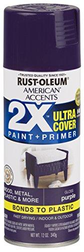 Rust-Oleum 327899 American Accents Spray Paint, 12 Oz, Gloss Purple