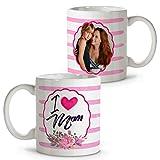 Taza Te Quiero Mama Personalizada con Foto. Regalos Dia de la Madre Personalizados. Varios Diseños y Colores de Interior. I Love MOM