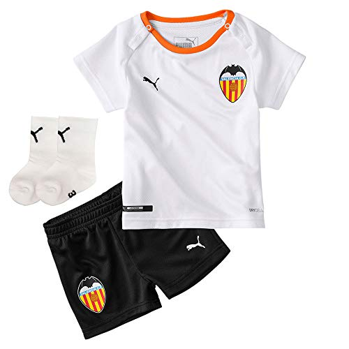 PUMA Bebe Valencia CF Primera Equipación 2019-2020, Conjunto, White Black-Vibrant Orange