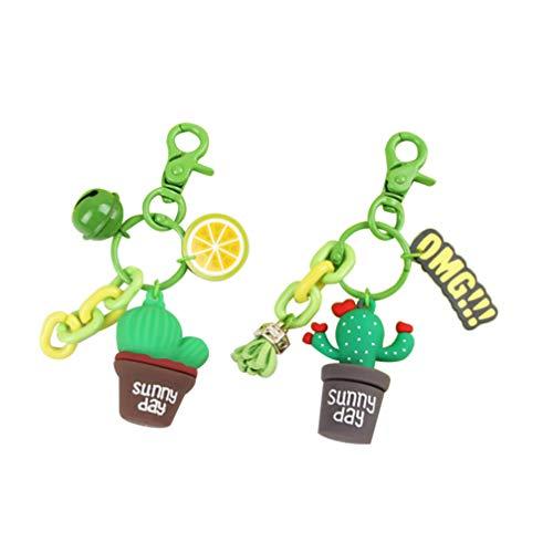2 llaveros de Cactus con diseño de Cactus