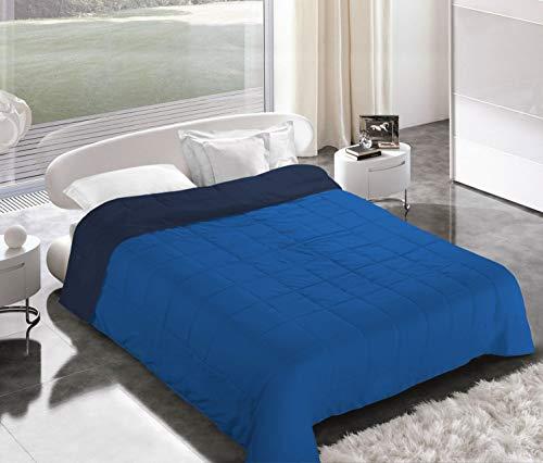Italian Bed Linen Piumino Estivo, Microfibra, Blu Scuro/Royal, 2 Posti