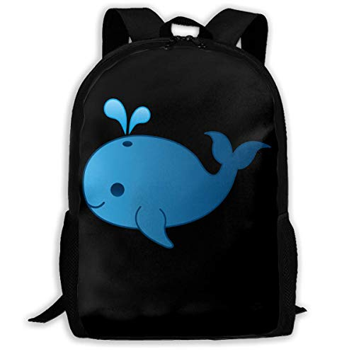 shenguang Cartoon Whale Print Custom Unique Casual Backpack School Bag Travel Daypack Gift
