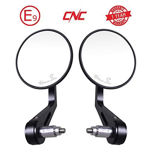 Evermotor universale CNC alluminio Omologati specchietti retrovisore moto set