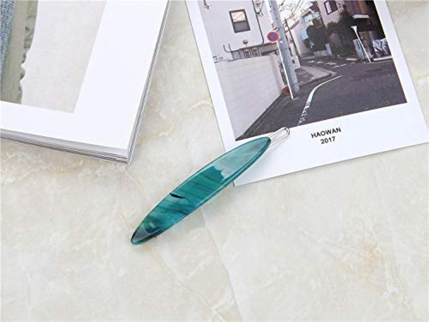 光電うまれた羽HuaQingPiJu-JP 1PcシンプルなエレガントなヘアクリップファッションUseflulヘアアクセサリー(ダークグリーン)