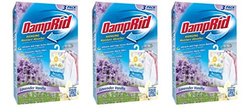 Great Price! DampRid Hanging Moisture Absorber, Lavender Vanilla, 14 Oz, 3 Count - (Pack of 3)