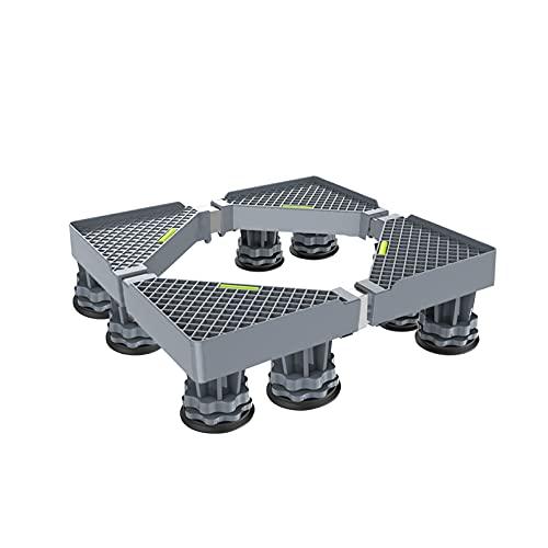YiHYSj 4/8 Pies Soporte De Base para Lavadora Ajustable y Universal Soporte y Bastidor Refrigerador RetráCtil Largo/Ancho 42-65cm Soporte Lavavajillas Hornos Altura 9-12cm - 300kg (8Legs)