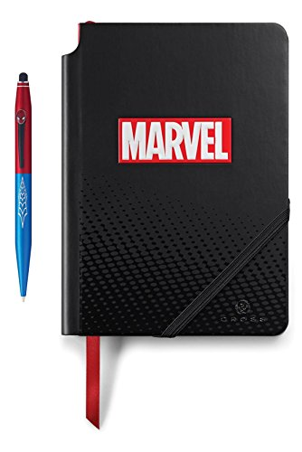 A. T. Cross Marvel Tech2 Kugelschreiber mit Stylus und Notizbuch, Spider-Man Geschenkset