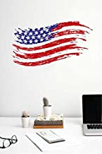 Rawpockets 'USA Flag' Wall Sticker (PVC Vinyl, 90 cm x 50cm), Multicolour