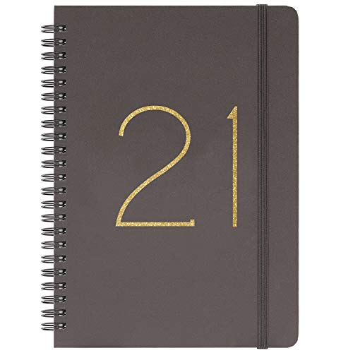 """2020 Planner - Weekly & Monthly Planner with Tabs, January 2020 - December 2020, Flexible Cover with Twin-Wire Binding, Banded, 6.45"""" x 8.45"""""""