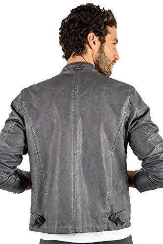 Scorpion Bay Herrenjacke Eco Leder Grau XL