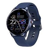 LIEBIG Smartwatch Hombre,Relojes Inteligentes Hombre Impermeable IP68,Pulsera de Actividad Inteligente con Pulsómetros Podómetro Cronómetros Monitor de Sueño para Android iOS (Blue)