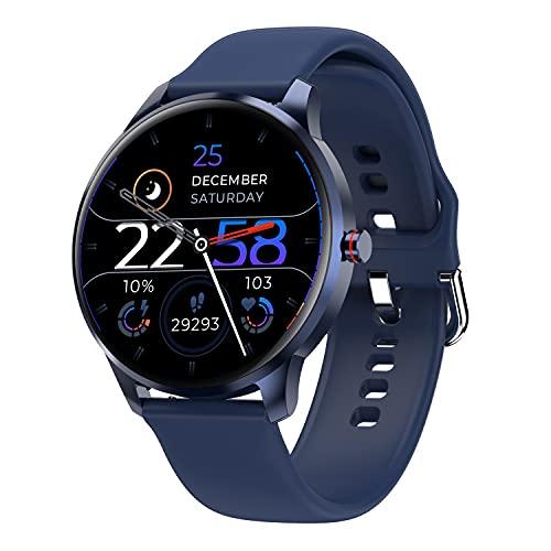 LIEBIG Smartwatch Herren, Fitness Tracker mit Schrittzähler IP68 Wasserdicht Sportuhr mit Pulsuhr Blutdruckmessgerät Schlafmonitor Damen Herren Armbanduhr für Android iOS (Blau)