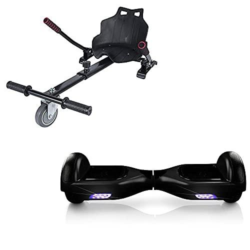 ACBK Hoverboard Tango con Kart Silla, Juventud Unisex, Negro, Ruedas 6.5'
