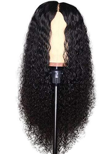 Beaty Perruque Femme Naturelle 100% Cheveux Humains Bresiliens Ondulé Deep Wave - Lace Front Frontal Wig Naturel Human Hair (Densité: 180%),20inches