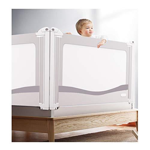 XJJUN Barrière De Lit Vertical Lift Big Bed Barrière De Sécurité for Lit De Bébé Suitable for Children, 4 Colors of Breathable Mesh (Color : Gray, Size : 200x85-100CM)