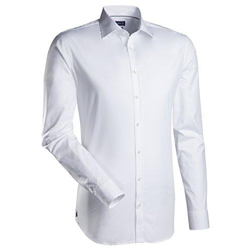 Jacques Britt Herren Regular Fit Business Hemd JOHN AL T.98, Gr. Kragenweite: 41 cm (Herstellergröße: 41/L), Weiß (Uni weiss 1)