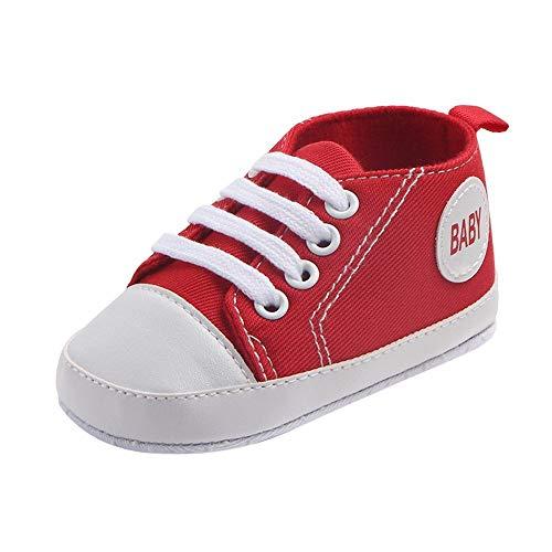 Zapatos Bebe Primeros Pasos Zapatilla de Deporte Niño Antideslizante del Zapato de Lona Color Sólido Antideslizante Chicos Chicas Zapatos Calzado riou