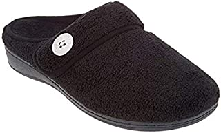 Vionic Women's Indulge Sadie Mule Slipper - Ladies Slipper Concealed Orthotic Support
