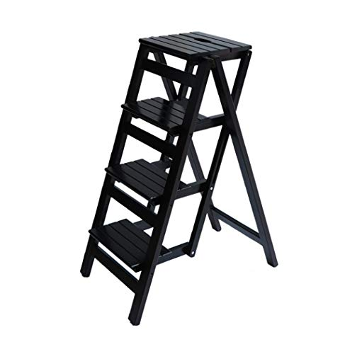 Uitklapbare trapladder van hout, bibliotheek trapladder multifunctionele keukenladder van wit hout keuken kantoor ladder ZHFZD Size D