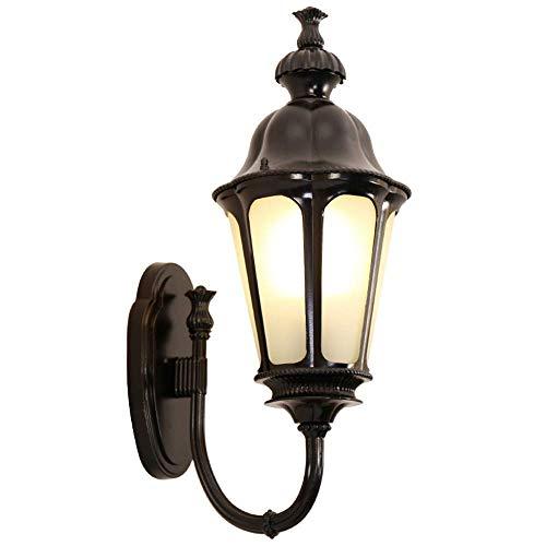 Linternas de Pared de colección de Gran Valor Black Westinghouse New Haven Aplique de Pared Lámpara de Pared Exterior de una luz Globo Lámpara de Pared eléctrica Lámpara de Pared LED de Bronce frotad