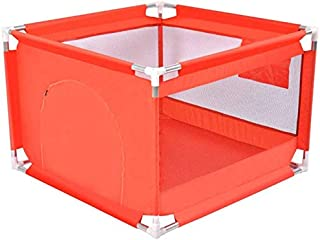 Playpens Folded Play Yard Baby Indoor Outdoor Boys Girls Safety Panel  Lightweight Portable Toddlers Home Activity Area Fence  Red  Size 100 100 68cm