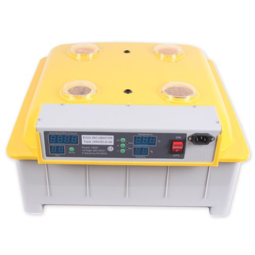BINGS Janoel 48 Eggs Digital Automatic Turner Incubator Hatcher with 2 Years Warranty Wonderful Poultry Hatcher Incubators with Free Candler