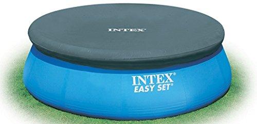 Intex 15 Foot Easy Set Above Ground Swimming Pool Debris Vinyl Round Cover Tarp