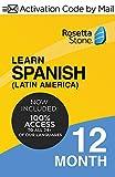 Rosetta Stone Learn Spanish (Latin America) 12 Months  PC/Mac Keycard