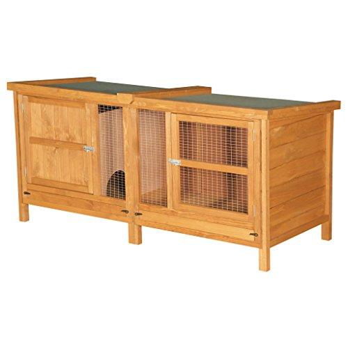 The Chartwell Stall für Kaninchen / Meerschweinchen, Nut- und Federverbindungen, mit Beinen, 1,5 x 0,6 x 0,6 m