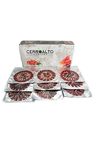CERROALTO | Plato Jamón de Cebo de campo 50% Raza Iberica | Emplatado a mano en sobres de 100 gr (10 SOBRES)
