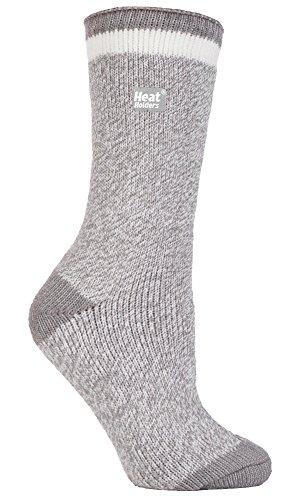 HEAT HOLDERS - Damen Gemusterte Twist Thermal Socken in 10 Farben, Größe 37-42 EUR (greystoke)