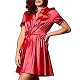 iYmitz  Robe de Nuit pour Femme en Satin et Dentelle de Soie Chemise de Nuit Pyjama Peignoirs de Bain Robes de Chambre et Kimonos