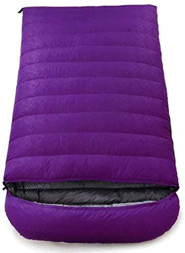 sleeping bag Portable Adult Climbing Envelope Four Seasons Ultra-Light (capacity: 5.5 kg, color: purple)