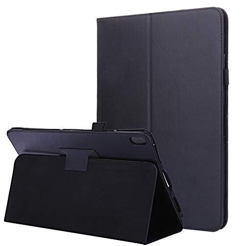 Lobwerk Hülle für Lenovo Tab E10 TB-X104F 10.1 Zoll Smart Cover Etui mit Standfunktion Schwarz