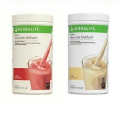 2 x Herbalife Formula 1 Shake Vanille & Erdbeere, je 550g