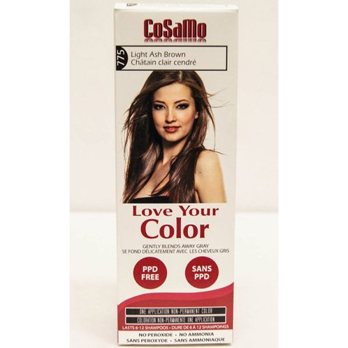 CoSaMo Love Your Color Hair Color 775 Light Ash Brown (Pack of 3)