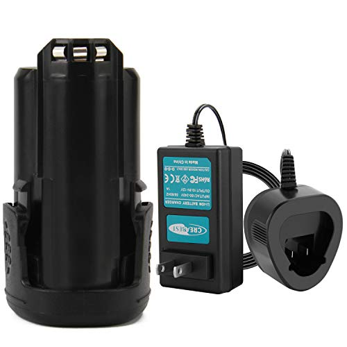 Creabest Replacement for Dremel 12V 3.0Ah max Lithium-ion Battery 8200 8220 and 8300 Cordless Tools Include One 12V Battery Charger