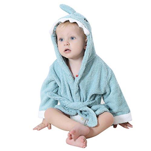 toalla de baño bebé – Toalla de baño con capucha Poncho niños niñas chicos albornoz de baño dulce secado salida de baño para bebe 0 – 24 meses Regalo Navidad