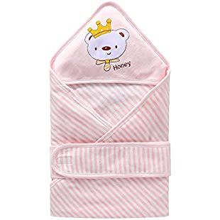 Cute Newborn Baby Cotton Quilt for Wrapping Baby to Enjoy Sleeping in Summer(Pink 1pc)