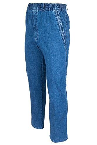 SOUNON Herren Jeans, Cargojeans, Schlupfhose Schlupfjeans, Stretchjeans Blau (M2), Groesse: 4XL