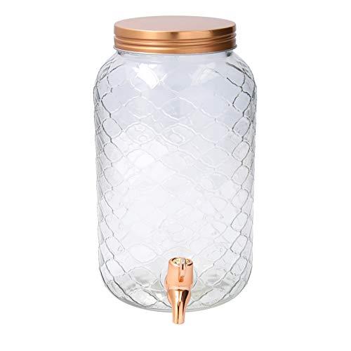 Quid Hábitat Dispensador de bebidas con grifo, Vidrio, Cobre, 3 Litros