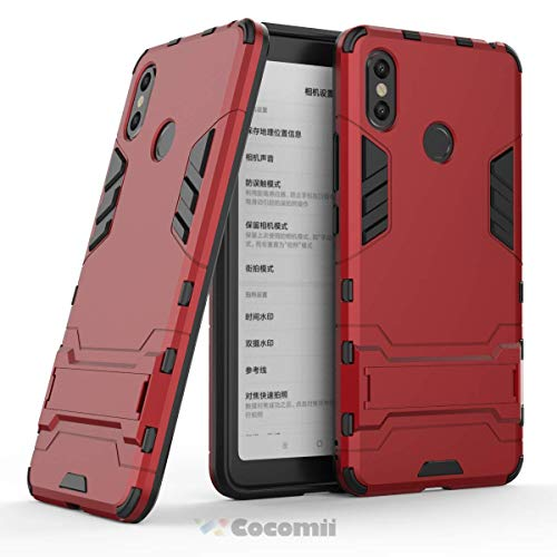 Cocomii Iron Man Armor Xiaomi Mi Max 3 Case, Slim Thin Matte Vertical & Horizontal Kickstand Reinforced Drop Protection Fashion Phone Case Bumper Cover for Xiaomi Mi Max 3 (Red)