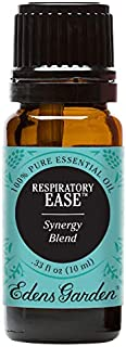 Edens Garden Respiratory Ease Essential Oil Synergy Blend, 100% Pure Therapeutic Grade (Highest Quality Aromatherapy Oils- Congestion & Energy), 10 ml