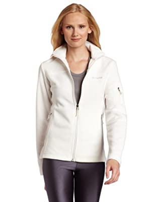 Columbia Women's Fast Trek II Full Zip Soft Fleece Jacket, Classic Sea Salt, X-Large