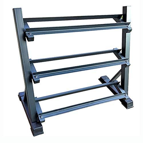 QIFFIY Hantelablage Hantel Storage Rack Ständer Multi-Level-Handgewicht Gym Hantel Haushalts-Speicher-Hantel-Halter for Gym Organisation Gestell langhantel (Color : Black, Größe : 3-Tier)