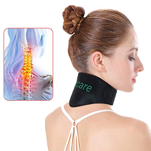 Tcare Tourmaline Magnetic Therapy Neck Brace Tourmaline Belt Support Cervical Vertebra Protection Spontaneous Self Heating